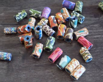 set of 30 lovely polymer clay beads.