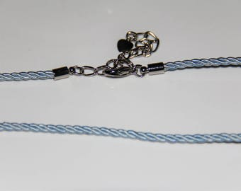 The blue cord with clasp