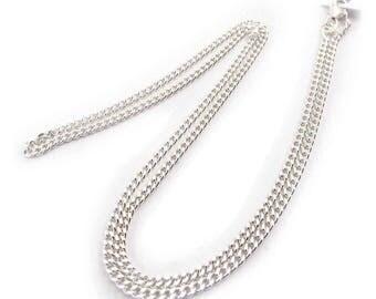 Silver mesh chain 48cm