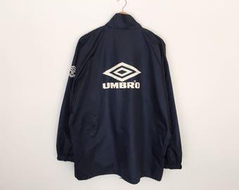 Umbro 90s Big Logo Spellout Zipper Jacket Windbreaker