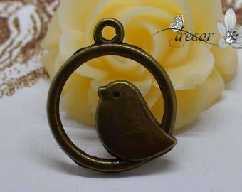 QDW001 Breloque,oiseau,manuelle,pendentif