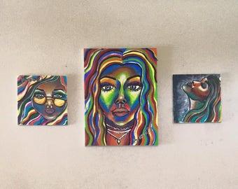 Hippy Chick 1, Stona Lisa, Hippy Chick 2