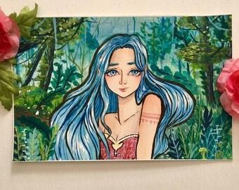 Forest Elf Girl Print