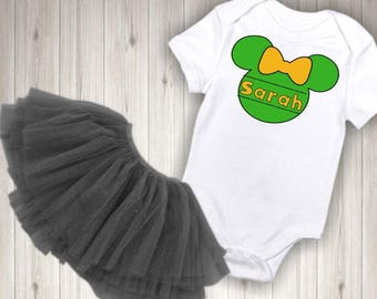 Baby girls little girls toddler girls Minnie Mouse St Patricks Day onesie and/or tee shirt