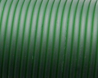 1 meter cord Buna Rubber 1st quality - (4mm round) - translucent dark green - RUBRD416VETR605