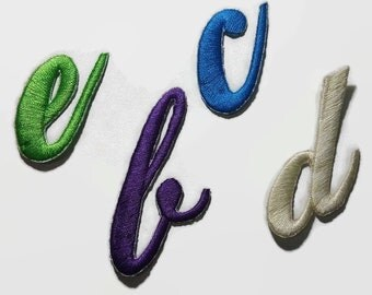 Iron on Letters, Embroidered Alphabet Letters, Letters Applique, Letters Patches, Iron on Patches, Colored Letters, Sew on, FREE SHIPPING