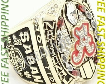 2015 2016 Alabama Crimson Tide Football National Championship Ring Sizes  7 - 14 - NEW - Collectible Sport Memorabilia
