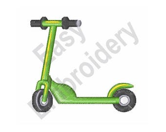 Scooter - Machine Embroidery Design