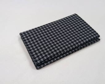 COUPON FABRIC PATCHWORK HOUNDSTOOTH BLACK AND GREY 50X55CM