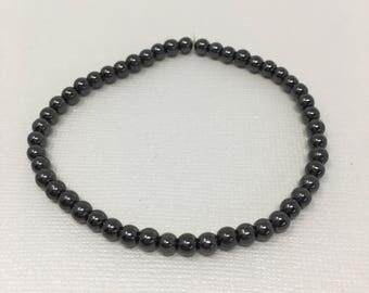 Gray Beaded Bracelet