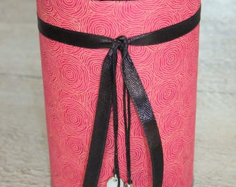 Pencil holder (No. 166) black & pink intense