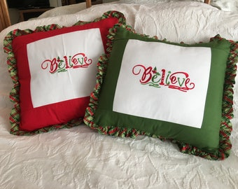 "Christmas Pillows ""Believe"""