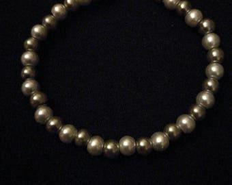 209. Silver & Grey Pearl Bracelet
