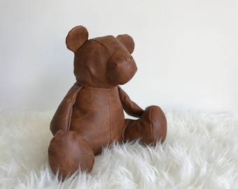 HARVEY Hand crafted LEATHER doorstop