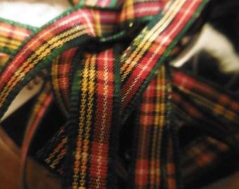 plaid fabric Ribbon code 1055 BUCHANAN 7 mm