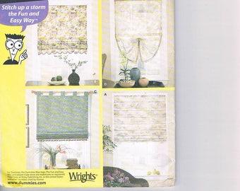 Simplicity 5260 Sewing for Dummies Roman Shades UNCUT
