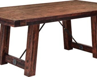 Reclaimed Chestnut Wood Rustic Dining Table Farmhouse