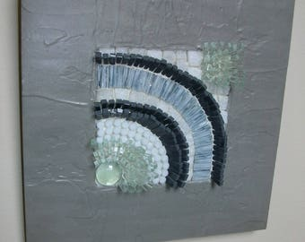 Mosaic table - marble and Murano glass