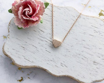 Rose Gold Heart Dainty Necklace