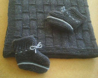 Baby Blanket,Newborn Blanket,Baby Blanket,Baby Booties,Loafers,Baby gifts