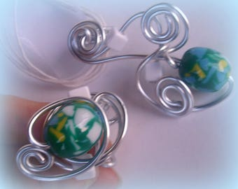 SET of spring * silver plated aluminum wire *.