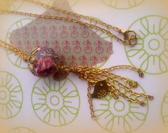 set of 2 necklaces necklaces * VINTAGE RETRO *.