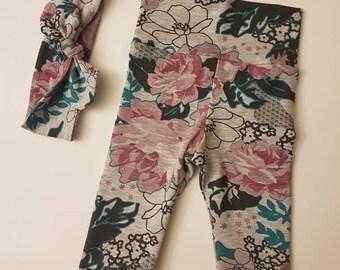 Floral Legging/Headband Set