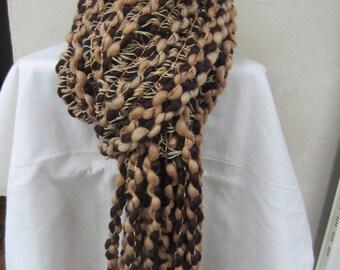 Unisex Brown winter scarf