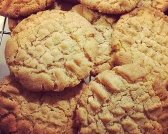 One Dozen Large Soft Creamy Peanut Butter Cookies