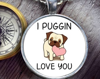 Pug Necklace - Gift for Wife - Cute Pug Gift - Pug Jewelry - Pug Gift for Women - Pug Valentines Gift - Pug Anniversary Gift