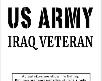 US Army Iraq Veteran v3 Vinyl Decal