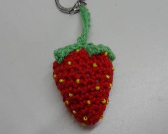 Keychain for those who love strawberries!