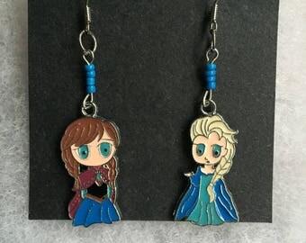 Handmade Anna Elsa Earrings