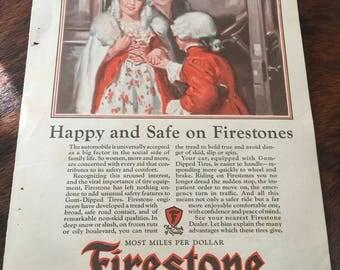 Firestone Tires Ad  1927