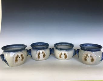 Twin Handle Cavalier Soup Bowls (set of 4)