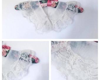 Vintage || Collar || White || Lace Collar || Ruffle Collar || Peter Pan Collar || Accessories || Women's Collar