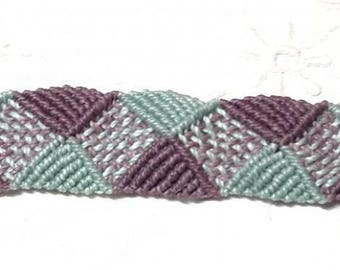 Blue and purple macrame bracelet