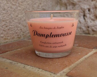 """""""Grapefruit"""" vegetable wax scented candle"""