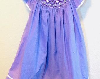 Purple Smocked Dress, Lilac Smocked Dress, Easter Smocked Dress, Girls Smocked Dress