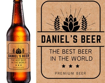 Personalized beer bottle labels brewing company labels with for Custom beer labels and caps