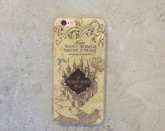 Harry Potter Marauder's Map Case iPhone 7 6s 6 Plus Clear Harry Potter Phone Case Best Friend Top iPhone Clear Silicone Case