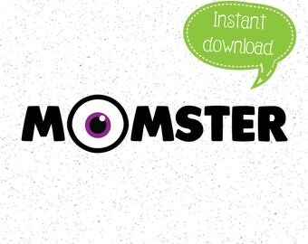 Momster SVG, Momster SVGs, Monster SVG, Halloween SVG, Halloween Clipart, Cricut Cut File, Silhouette File