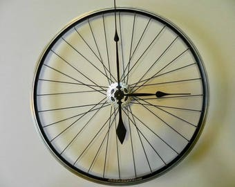 Upcycled Bicycle Wheel Clock