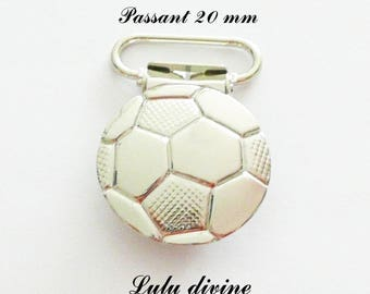 """20 strap, fastener clamps pacifier & cuddly, """"Football"""" """"Soccer ball"""" from 20 mm"""