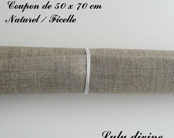 Linen embroidery 12 threads/cm, 50 x 70 cm natural coupon / Twine