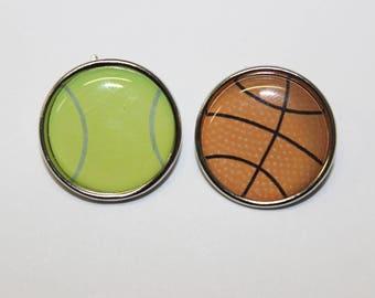 Brads / fasteners Parisian sport theme 20 mm