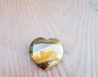 Tiger eye heart shaped stones