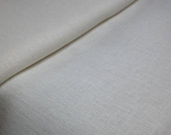 Linen zweigart 12 wires 50 x 70 cm - canvas embroidery linen Belfast 12 wires beige - Beige linen zweigart 12 beige yarn to cm