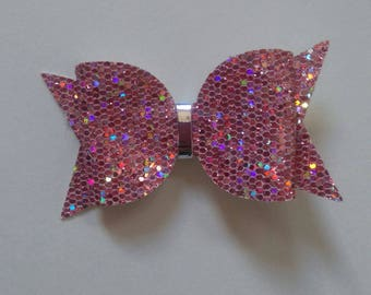 rose gold mini hairbow