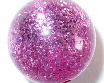 5 polaris paipolas pink glitter 5 pearls 10mm beads